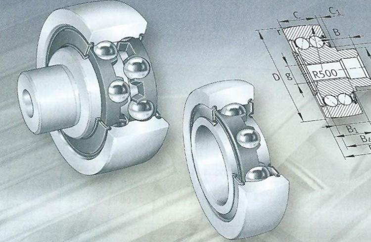 Ball bearings track rollers